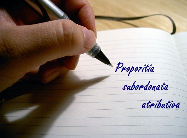propozitia subordonata atributiva