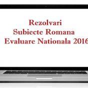 rezolvari subiecte romana evaluare nationala 2016