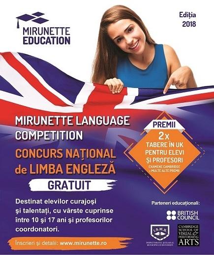 Ultimele zile de înscrieri în concursul Mirunette Language Competition!