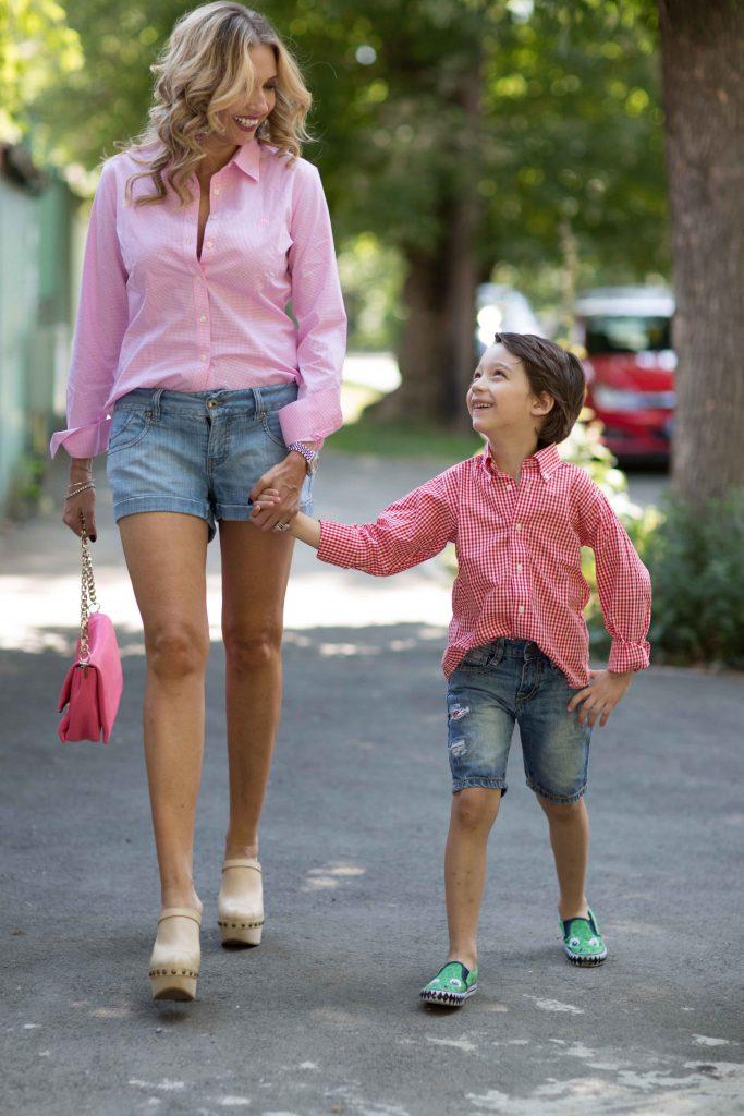 Ileana Badiu și fiul ei, Sasha