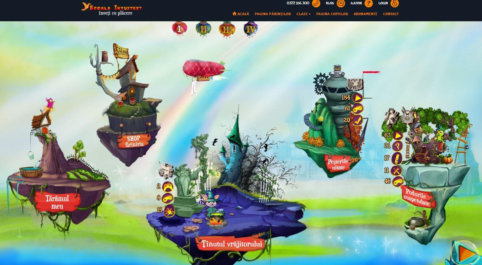 Site-ul educațional Școala Intuitext pentru copiii din clasele primare