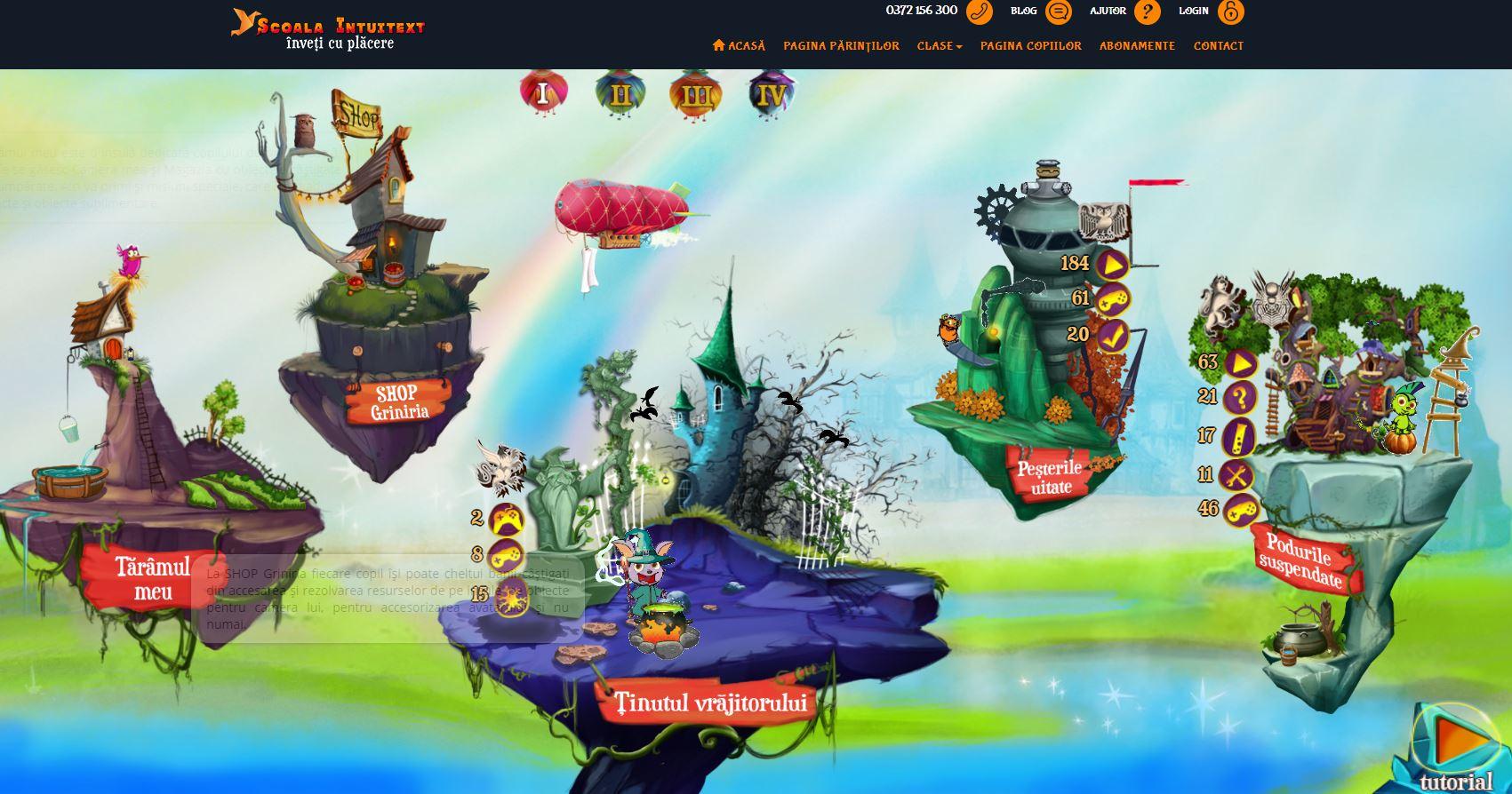 Noua versiune a site-ului educațional Școala Intuitext