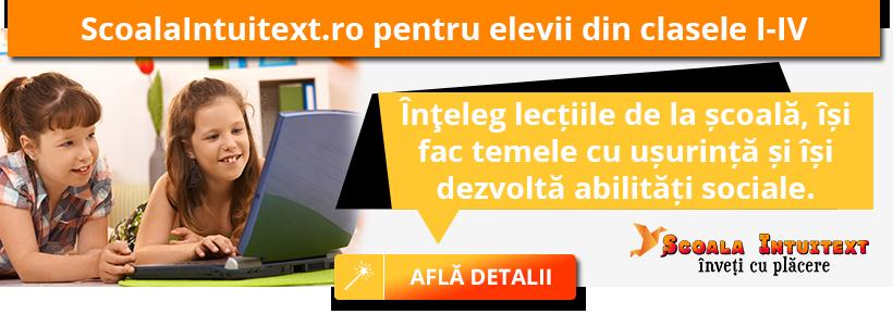 ScoalaIntuitext.ro - produsul educational preferat al copiilor din clasele primare
